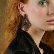 Black harlequin earrings2