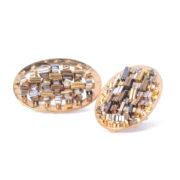 CODICE Oval Earrings Gold_2