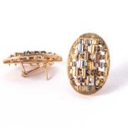CODICE Oval Earrings Gold_3