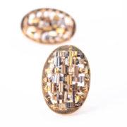 CODICE Oval Earrings Gold_4