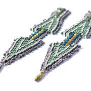 Doppio Freccia Small Earrings Blue & Green 2