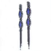 C01-1-021-B TRACCE Cometa Earrings | Fluo Blue_2