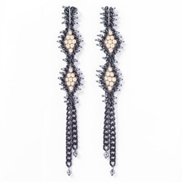 C01-1-021-C TRACCE Cometa Earrings | Fluo Cream_1
