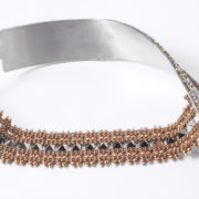 ICS2-9-G TRACCE Steel Ribbon Necklace | Gold_11