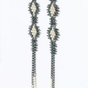Tracce Cometa Earrings - Black .1