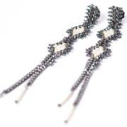 Tracce Cometa Earrings -Black .4