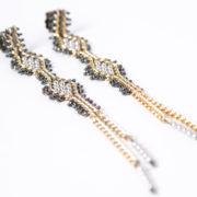 Tracce Cometa Earrings - White .4