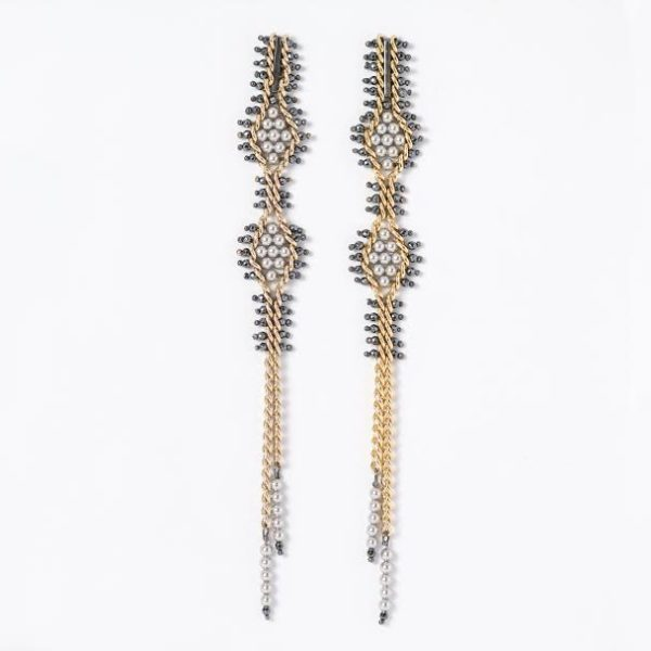 Tracce Cometa Earrings - White