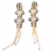 Tracce Cometa Earrings - White.2