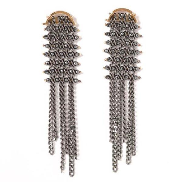 Tracce Fringe & Turn Earrings.1